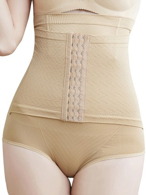 Women Khaki Butt Lifting Three Hooks Seamless Panty Superfit Everyday