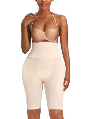 Perforated Skin Color Thigh Length Butt Lifting Panty Strapless Tummy Slimmer