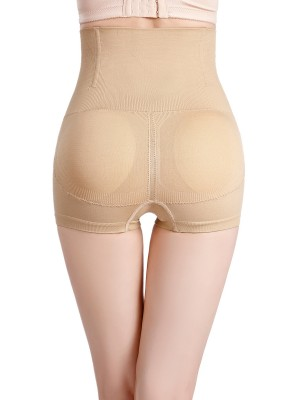 Lightweight Apricot High Waist Padded Panties Seamless