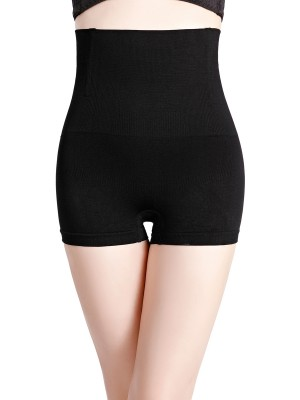 Streamlined Black Seamless High Waist Butt Lifter Panties