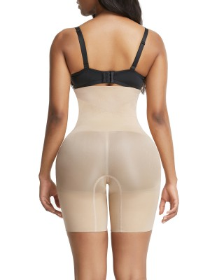 Breathe Freely Skin Color High Waist Large Size Butt Enhancer Tummy Trimmer