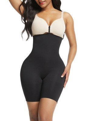 Contour Black Panty Shaper Hollow Out Solid Color Body Shaper