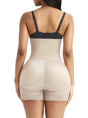High-Compression Skin Color High-Waist Tummy Control Shaper Shorts