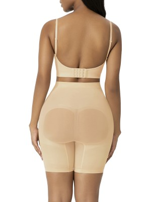 Apricot Large Size Seamless Shapewear Shorts Body Sculpting