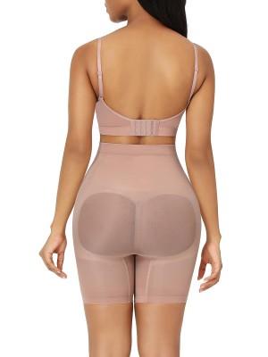Nude Seamless Butt Lifter Shorts Anti-Slip Compression Silhouette