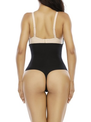 Moderate Control Black Seamless Shaper Queen Size High Cut Figure Shaping