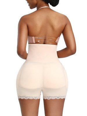 Contour Skin Color Plus Size Butt Lifter Hooks Lace Trim
