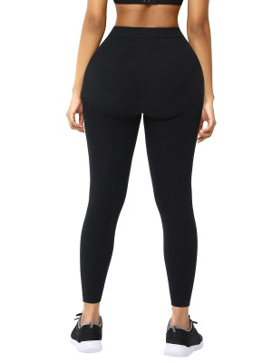 Black Seamless High Waist Pant Shaper Absorbs Moisture