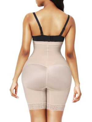 Skin Color High Waist 3 Rows Hooks Butt Lifter Posture Correct