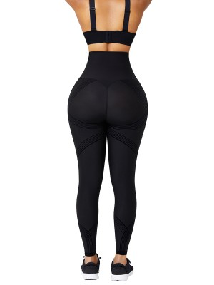 Black Seamless High Waist 3D Print Legging Curve Smoothing
