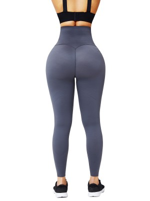 Deep Gray 3D Print Shapewear Pants High Waist Sensual Curves