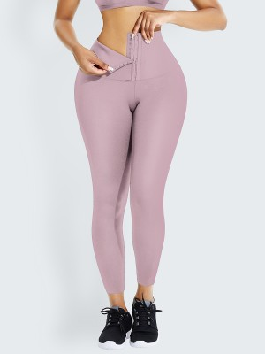 Light Pink 2-In-1 Shapewear Leggings High Waist Soft-Touch
