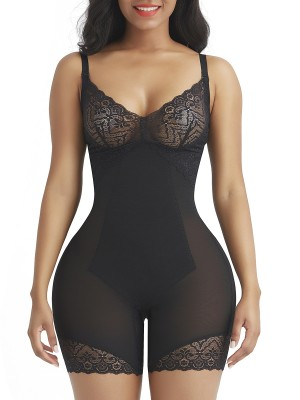 Black Shapewear Tummy Control Removable Straps Slimming Waist