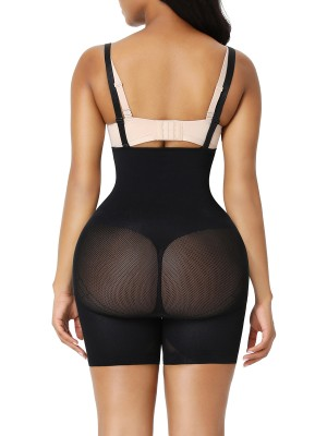 Black Queen Size Open Gusset Body Shaper Natural Shaping