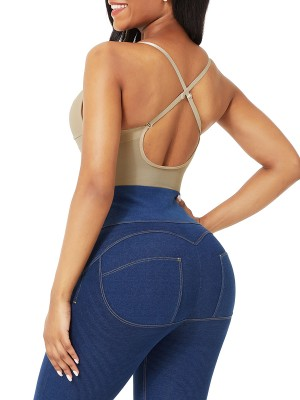 Nude Plus Size Low-Back Thong Body Shaper Flatten Tummy