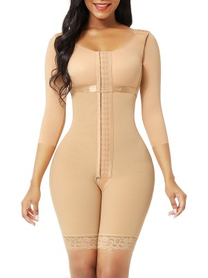 Dark Skin Butt Lifting Hooks Straps Full Body Shapewear Elastic
