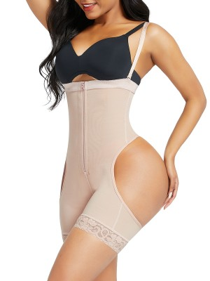 Nude Open Butt Tummy Control Shapewear Shorts Slimming Belly