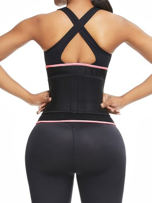 Powerful Pink Neoprene Waist Cincher 6 Steel Bones Tummy Trimmer
