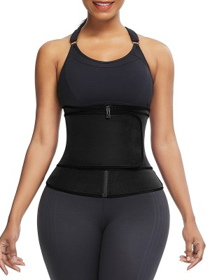Ultimate Slimmer Black 3 Steel Boned Neoprene Shaper Big Size
