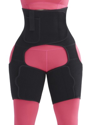 Cool Black Neoprene Thigh Shaper Adjustable Sticker Body Slimmer
