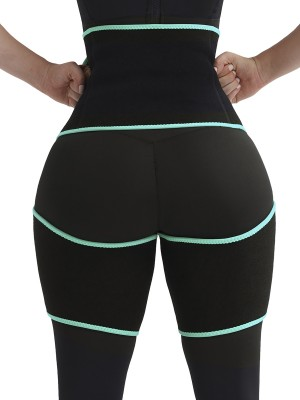 Plain Light Green Tummy Control Tight Slimmer Neoprene Slim Waist