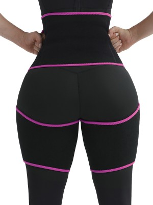 Slimming Rose Red Sticker Neoprene Pocket Tight Trainer Bandage