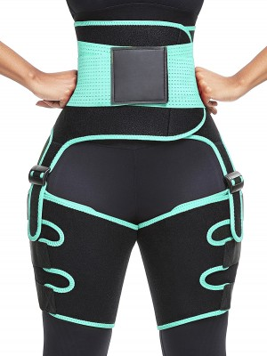 Charming Light Green Neoprene Tummy Control Thigh Trimmer