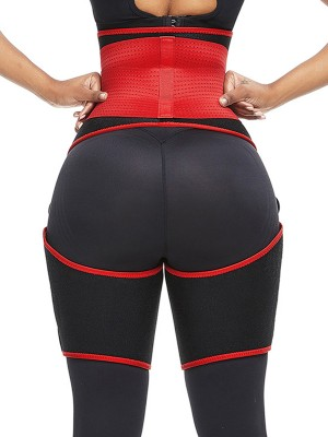 Amazing Red Neoprene Thigh Trainer High Waist Adjustable High Power