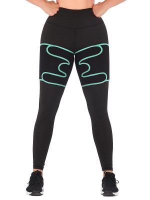 Curve Creator Light Green Neoprene Thigh Trimmer Sweat Increase