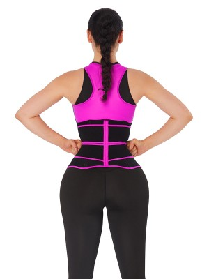 Rose Red Double-Belt Neoprene Waist Shapewear Vest Waist Control