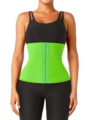 Green No Steel Bone Neoprene Waist Trainer Flatten Tummy