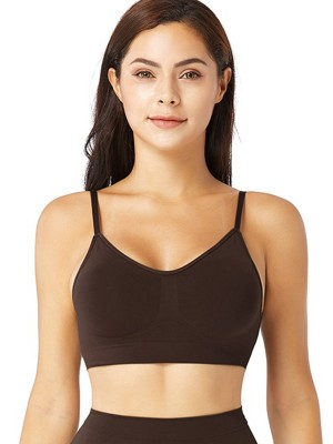 Deep Coffee Push Up Seamless Bra Removable Pads Casual Wear