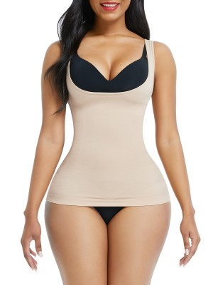Skin Color Large Size Tank Shaper Full Back Seamless Weight Loss