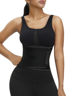 Extended Black Embossed Waist Trainer Moisture-Wicking Supper Fashion
