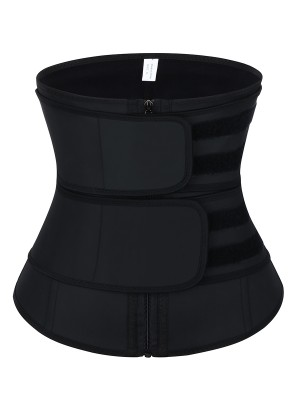 Black Sticker Latex Double-Belt Waist Trainer Curve Creator