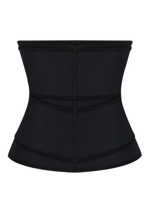 Black Sticker Latex Double-Belt Waist Trainer Postpartum Recovery