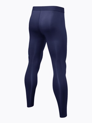 Cool Navy Blue Training Pants Quick Drying Pocket For Workout
