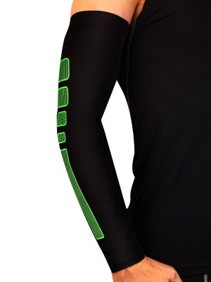 Ultra Sexy Green Contrast Color Sports Arm Guard For Running