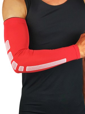 Supportive Red Antiskid Strip Barcer Arm Protection Stretch