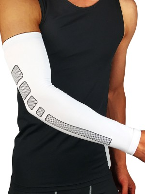 Exotic White Running Arm Guard Elbow Sleeve Leisure Time