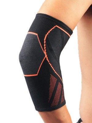 Essential Orange Elbow Guard Sleeve Non-Slip Insert Kinetic Fashion