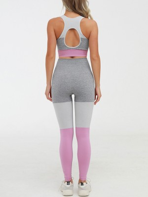 Staple Pink High Rise Yoga Suit Seamless Cutout Breath