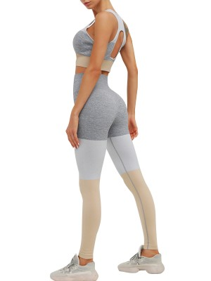 Glam Yellow Seamless Yoga Suit Hollow Out Back Comfortable