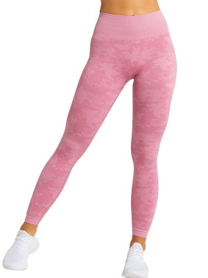 Naughty Pink Sports Leggings High Waist Seamless For Holiday