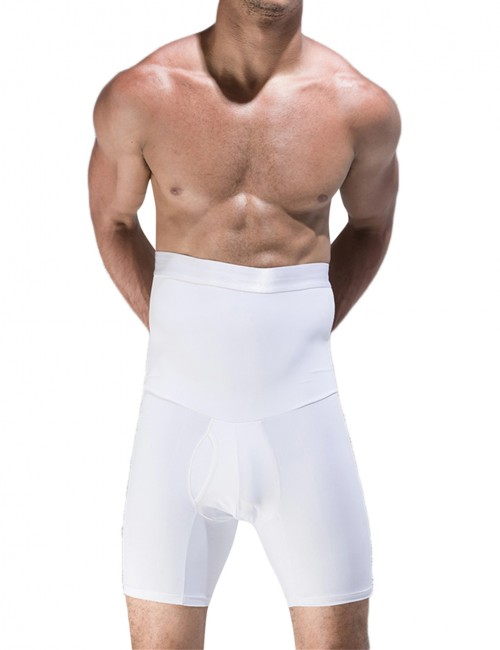 Flat Out White Men High Rise Booty Lifter Not Slide Versatile Item