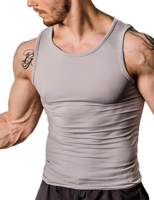 Breathe Freely Grey Tight Tank Shaper Stomach Slimming Sleek Smoothers
