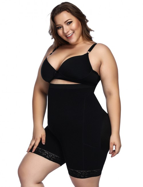 Amazing Black Anti-Curl Material Shapewear Butt Enhancer Perfect-Fit