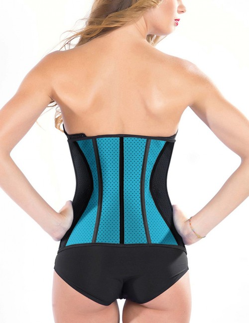 Flat Out Blue Plus 9 Bones Latex Waist Trimmer With Hooks Meticulous Design