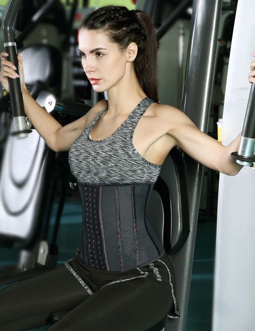 Black 13 Steel Bone Punching Big Size Waist Shaper Potential Reduction