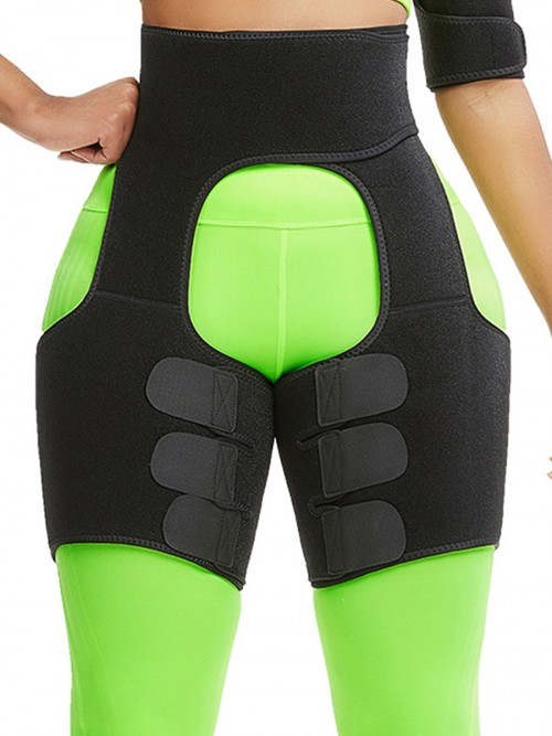 Black Neoprene Thigh Shaper High Waist Blood Circulation Boosting